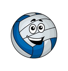 Cartoon volleyball ball vector image