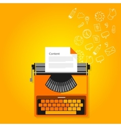 content marketing copywriting typewriter vector image