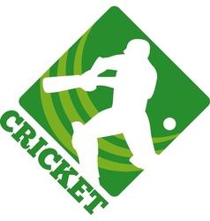 Cricket batsman batting front vector