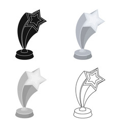 cup in the shape of silver stars flying upward vector image