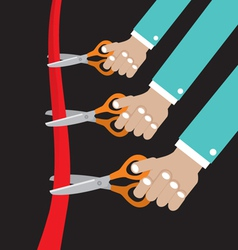 Cut Ribbon Opening Ceremony vector