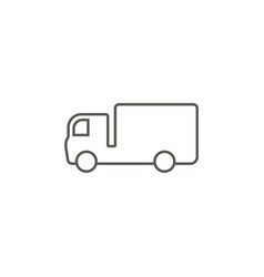 delivery truck icon simple element from map and vector image