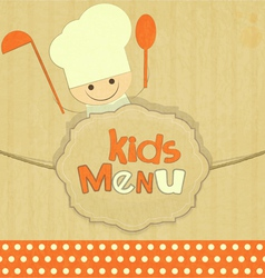 Design of kids menu vector image