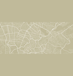 Detailed map amman city linear print map vector