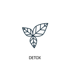 detox concept line icon simple element vector image