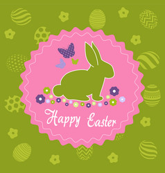 Easter day greeting card vector
