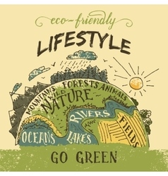 Eco friendly lifestyle concept vector
