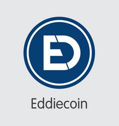 Eddiecoin cryptocurrency - coin vector