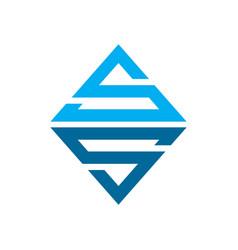 emerald ss initials lettermark symbol logo design vector image