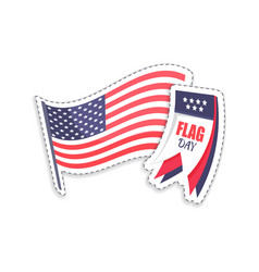 flag day calendar and pole vector image