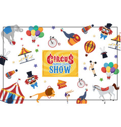 flat circus colorful concept vector image