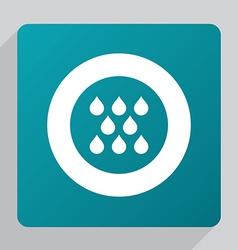 flat rain icon vector image