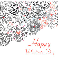 Floral design cards for valentine s day holiday vector