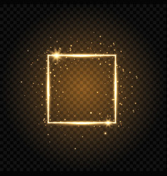 gold luxury frame isolated on transparent vector image