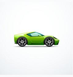 green cartoon sport car vector image
