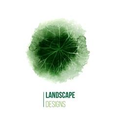 Hand drawn landscape design logo vector