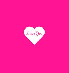 heart shape with text i love you phrase on plastic vector image