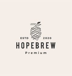 hop brew hipster vintage logo icon vector image