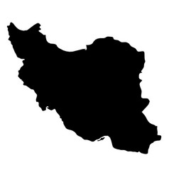 Iran - solid black silhouette map of country area vector