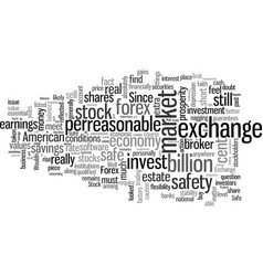 is it safe to invest in shares or the forex vector image