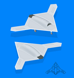 isometric long range strike-bomber aircraft vector image