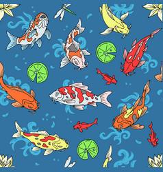 Koi fish japanese carp and vector