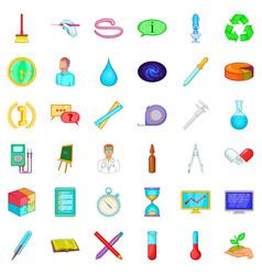 lab icons set cartoon style vector image
