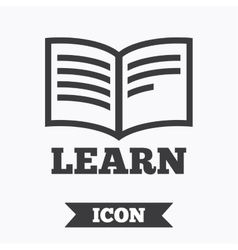 Learn Book sign icon Education symbol vector image vector image