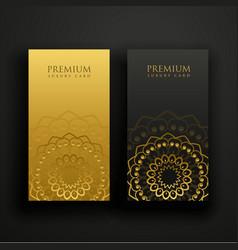 luxury mandala business card design vector image