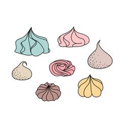 meringues set vector image
