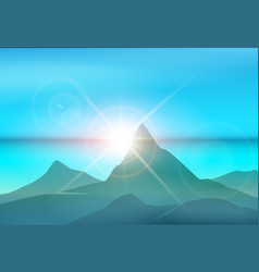 Morning island landscape vector