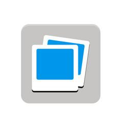 multimedia app button vector image