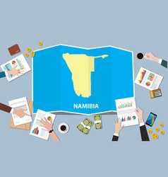 Namibia africa economy country growth nation team vector