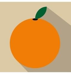 Orange flat icon vector