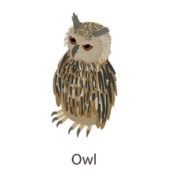owl icon isometric style vector image