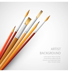 Paint brushes isolated on the white background vector image vector image