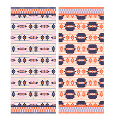 Pink aztec beach towel print vector