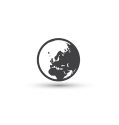 planet icon earth sign world symbol vector image