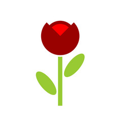 Poppy red flower isolated flowers emblem logo vector