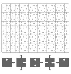 puzzle piece on white background board game vector image