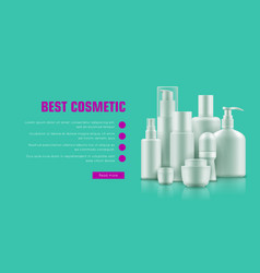 realistic cosmetic bottle advertising vector image