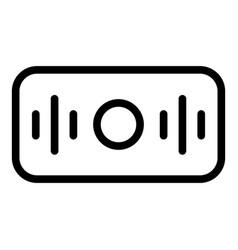 Rectangular smart speaker icon outline style vector