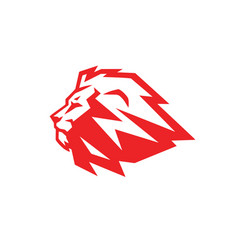 Red lion logo vector