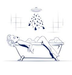 Relax in bathroom vector