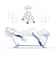 Relax in the bathroom vector