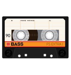 Retro audio cassette vector