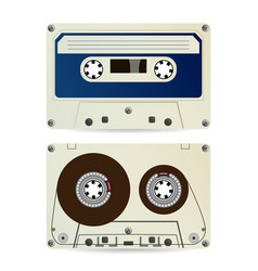 Retro audio cassette vintage classic audio vector