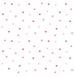 Seamless polka dot pink hearts pattern vector