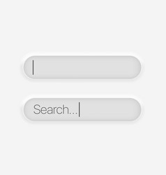 searching imput bar application interface element vector image