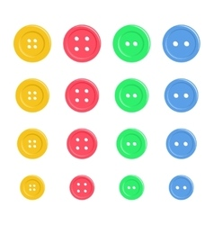 Set of bright plastic sewing buttons Background vector image